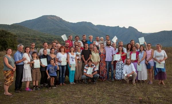 Участники очного Сертификационного курса пермакультурного дизайна, сентябрь 2013г., Краснодарский край